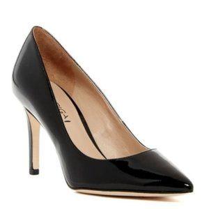 Via Spiga Carola Shiny Black Patent Leather Pumps